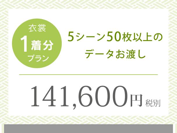 記念写真1シーン台紙付 データ8枚のお渡し 96,600円